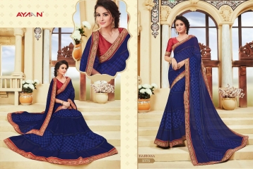 AYAN TRENDZ FUSION TADKA CATALOG FANCY DESIGNER SAREES COLLECTION WHOLESALE (3)
