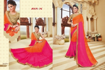 AYAN TRENDZ FUSION TADKA CATALOG FANCY DESIGNER SAREES COLLECTION WHOLESALE (4)