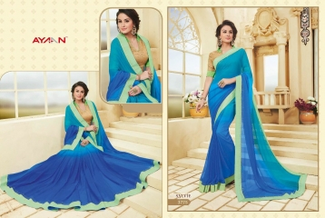 AYAN TRENDZ FUSION TADKA CATALOG FANCY DESIGNER SAREES COLLECTION WHOLESALE (5)
