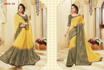 AYAN TRENDZ FUSION TADKA CATALOG FANCY DESIGNER SAREES COLLECTION WHOLESALE (6)