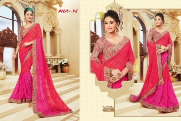 AYAN TRENDZ FUSION TADKA CATALOG FANCY DESIGNER SAREES COLLECTION WHOLESALE (8)