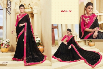 AYAN TRENDZ FUSION TADKA CATALOG FANCY DESIGNER SAREES COLLECTION WHOLESALE (9)