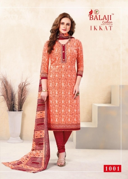 BALAJI COTTON PRESENTS IKKAT VOL 1 COTTON FABRIC WITH IKKAT PRINT DRESS MATERIAL BEST RATE BY GOSIYA EXPORTS SURAT (1