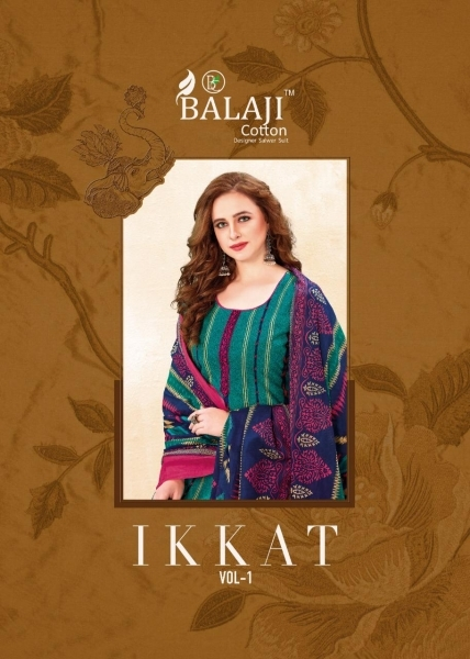 BALAJI COTTON PRESENTS IKKAT VOL 1 COTTON FABRIC WITH IKKAT PRINT DRESS MATERIAL BEST RATE BY GOSIYA EXPORTS SURAT (1)