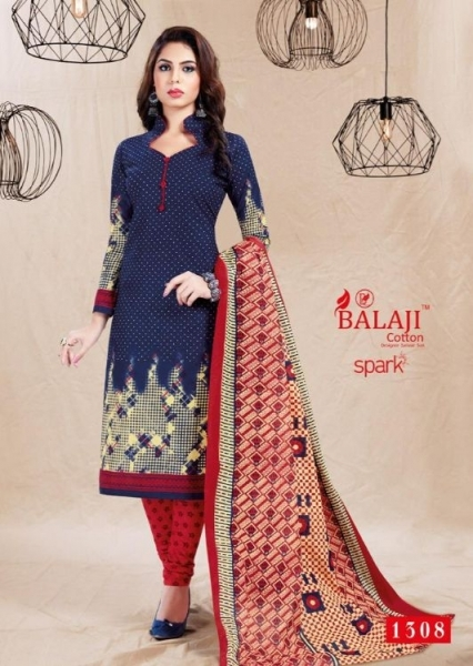 BALAJI COTTON PRESENTS SPARK VOL 13 COTTON FABRIC DRESS MATERIAL WHOLESALE BEST RATE BY GOSIYA EXPORTS SURAT (13)