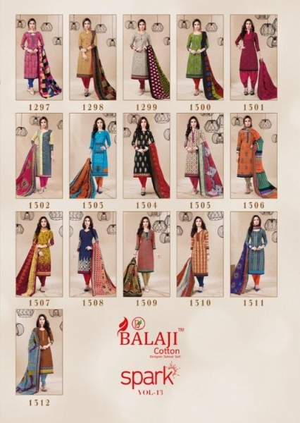 BALAJI COTTON PRESENTS SPARK VOL 13 COTTON FABRIC DRESS MATERIAL WHOLESALE BEST RATE BY GOSIYA EXPORTS SURAT (18)