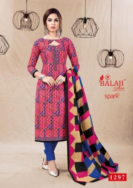 BALAJI COTTON PRESENTS SPARK VOL 13 COTTON FABRIC DRESS MATERIAL WHOLESALE BEST RATE BY GOSIYA EXPORTS SURAT (2)