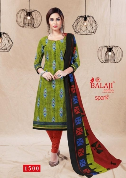 BALAJI COTTON PRESENTS SPARK VOL 13 COTTON FABRIC DRESS MATERIAL WHOLESALE BEST RATE BY GOSIYA EXPORTS SURAT (5)