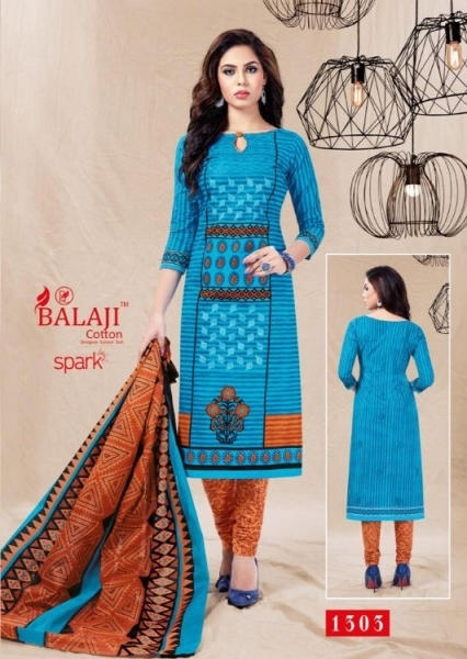 BALAJI COTTON PRESENTS SPARK VOL 13 COTTON FABRIC DRESS MATERIAL WHOLESALE BEST RATE BY GOSIYA EXPORTS SURAT (8)