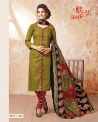 BALAJI SPARKLE VOL 7 COTTON DRESS MATERIAL WHOLESALE (15)