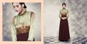 BANSI BLUSH 14 READYMADE GEORGETTE GOWNS CATALOG WHOLESALE BY GOSIYA EXPORTS (9)