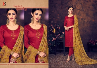 BAROQUE BY DEEPSY SUITS JAM SILK COTTON SELF (10)