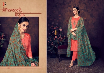 BAROQUE BY DEEPSY SUITS JAM SILK COTTON SELF (2)