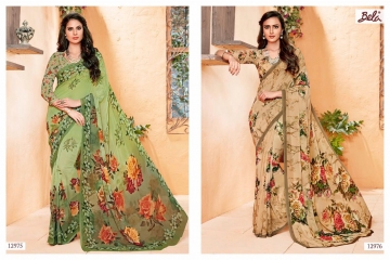 BELA FASHION ROSEMARY CATALOG GEORGETTE DESIGNER PRINTS SAREES COLLECTION (10)