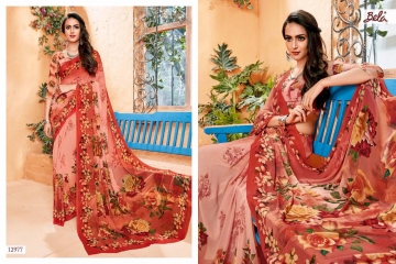 BELA FASHION ROSEMARY CATALOG GEORGETTE DESIGNER PRINTS SAREES COLLECTION (11)