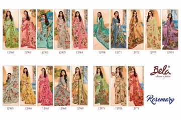 BELA FASHION ROSEMARY CATALOG GEORGETTE DESIGNER PRINTS SAREES COLLECTION (12)