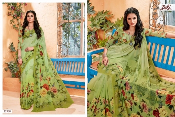 BELA FASHION ROSEMARY CATALOG GEORGETTE DESIGNER PRINTS SAREES COLLECTION (2)