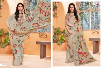 BELA FASHION ROSEMARY CATALOG GEORGETTE DESIGNER PRINTS SAREES COLLECTION (3)