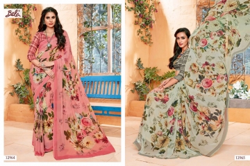 BELA FASHION ROSEMARY CATALOG GEORGETTE DESIGNER PRINTS SAREES COLLECTION (4)