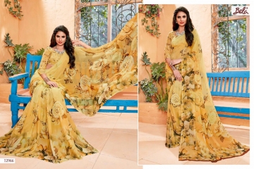 BELA FASHION ROSEMARY CATALOG GEORGETTE DESIGNER PRINTS SAREES COLLECTION (5)