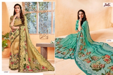 BELA FASHION ROSEMARY CATALOG GEORGETTE DESIGNER PRINTS SAREES COLLECTION (7)