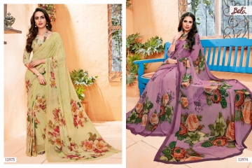 BELA FASHION ROSEMARY CATALOG GEORGETTE DESIGNER PRINTS SAREES COLLECTION (9)