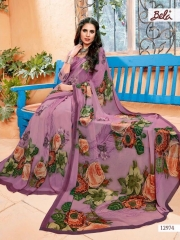 BELA FASHION ROSEMARY CATALOG GEORGETTE DESIGNER PRINTS SAREES COLLECTION WHOLESALE DEALER BEST RATE BY GOSIYA EXPORTS SURAT