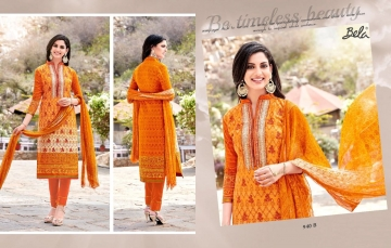 BELA NAAZ VOL 1 COTTON LAWN SATIN DRESSS MATERIAL AT WHOLESALE PRICE AT GOSIYA EXPORTS (14)
