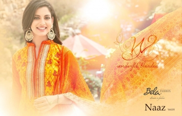 BELA NAAZ VOL 1 COTTON LAWN SATIN DRESSS MATERIAL AT WHOLESALE PRICE AT GOSIYA EXPORTS (8)