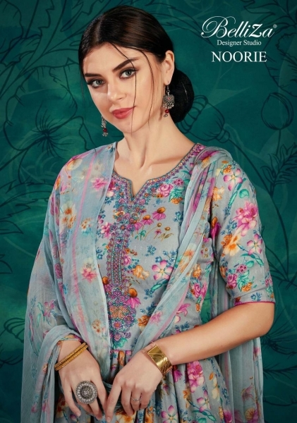 BELLIZA DESIGNER STUDIO NOORIE PASHMINA FABRIC WITH EMBROIDERY WORK SALWAR SUIT WHOLESALE DEALER BEST RATE BY GOSIYA EXPROT SURAT (1)
