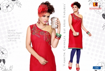 BOURNBORN DESIGNER COTTON KURTIS BY RAASHI AVAILABLE IN WHOLESALE BEST RATES BY GOSIYA EXPORTS (12)