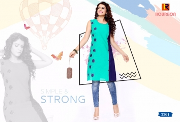 BOURNBORN DESIGNER COTTON KURTIS BY RAASHI AVAILABLE IN WHOLESALE BEST RATES BY GOSIYA EXPORTS (2)