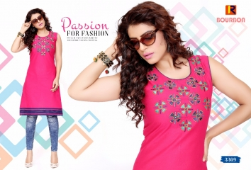 BOURNBORN DESIGNER COTTON KURTIS BY RAASHI AVAILABLE IN WHOLESALE BEST RATES BY GOSIYA EXPORTS (5)