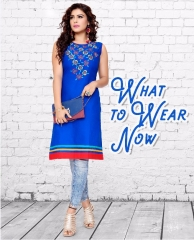 BOURNBORN DESIGNER COTTON KURTIS BY RAASHI AVAILABLE IN WHOLESALE BEST RATES BY GOSIYA EXPORTS (7)