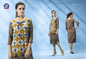 BUY TOP DOT MOTIF VOL 3 CASUAL WEAR PRINTED KURTIS SUPPLIER FROM SURAT WHOLESALE BEST RATE BY GOSIYA EXPORTS (7)