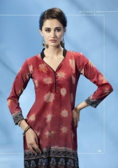 BUY TOP DOT MOTIF VOL 3 CASUAL WEAR PRINTED KURTIS SUPPLIER FROM SURAT WHOLESALE BEST RATE BY GOSIYA EXPORTS