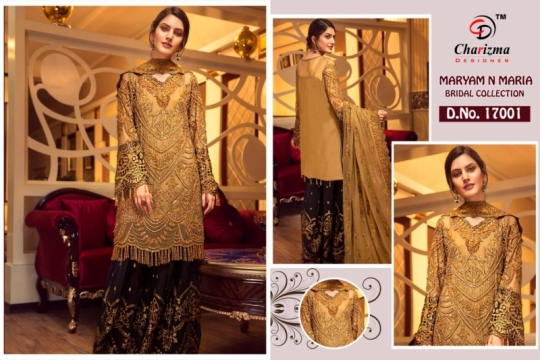 Charizma-Maryam-And-Maria-Georgette-Embroidery-Pakistani-Salwar-Suit-2