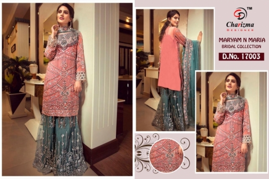 Charizma-Maryam-And-Maria-Georgette-Embroidery-Pakistani-Salwar-Suit-3