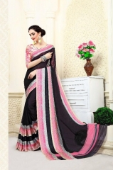 CHAHAT CREATION ANSHIKA VOL 1 DIGITAL PRINTED EXCLUSIVE SAREE BUY AT BEST RATE BY GOSIYA EXPORTS