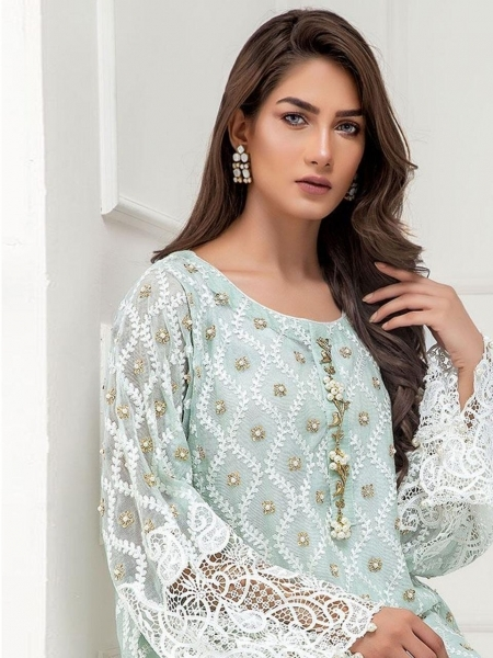 CHARIZMA DESIGNER PRESENTS EILIYAH VOL 1 NET GEORGETTE FABRIC WITH EMBROIDERY SALWAR SUIT DEALER BEST RATE