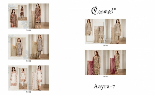 COSMOS PRESENTS AAYRA VOL 7 GEORGETTE FABRIC SALWAR SUIT WHOLESALE DEALER BEST RATE BY GOSIYA EXPORTS SURAT (3)