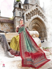 COTTON CRAFT SAREES BY SHANGRILA DESIGNER WITH PRINTED SILK SAREES ARE AVAILABLE AT WHOLESALE BEST RATE BY GOS