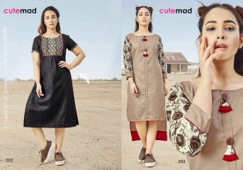 CUTEMAD CLOUD 9 VOL 2 BLENDED COTTON KURTI COLLECTION WHOLESALE BEST RATE BY GOSIYA EXPORTS SURAT (2)