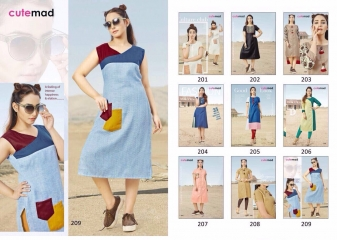 CUTEMAD CLOUD 9 VOL 2 BLENDED COTTON KURTI COLLECTION WHOLESALE BEST RATE BY GOSIYA EXPORTS SURAT (7)