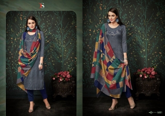 DEEPSY FUSION 2 PURE PASHMINA PRINTS SELF EMBROIDERED SUITS WINTER COLLECTION WHOLESALE DEALER (1)