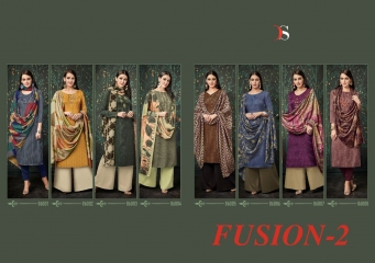 DEEPSY FUSION 2 PURE PASHMINA PRINTS SELF EMBROIDERED SUITS WINTER COLLECTION WHOLESALE DEALER (10)