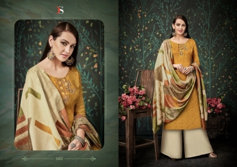 DEEPSY FUSION 2 PURE PASHMINA PRINTS SELF EMBROIDERED SUITS WINTER COLLECTION WHOLESALE DEALER (2)