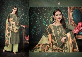 DEEPSY FUSION 2 PURE PASHMINA PRINTS SELF EMBROIDERED SUITS WINTER COLLECTION WHOLESALE DEALER (4)