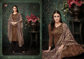 DEEPSY FUSION 2 PURE PASHMINA PRINTS SELF EMBROIDERED SUITS WINTER COLLECTION WHOLESALE DEALER (5)