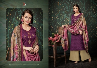 DEEPSY FUSION 2 PURE PASHMINA PRINTS SELF EMBROIDERED SUITS WINTER COLLECTION WHOLESALE DEALER (8)